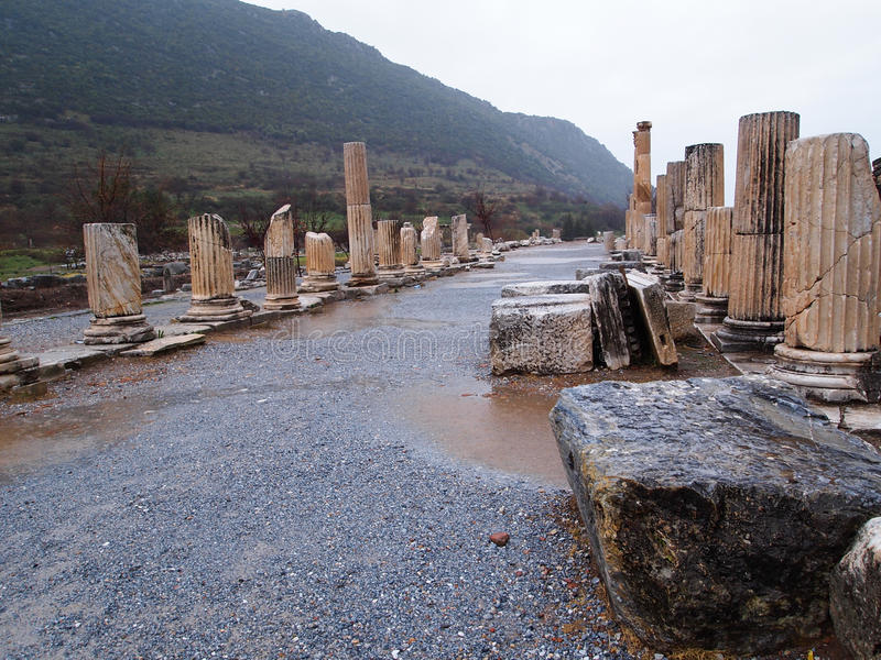Alte Stadt von Ephesus stockbild
