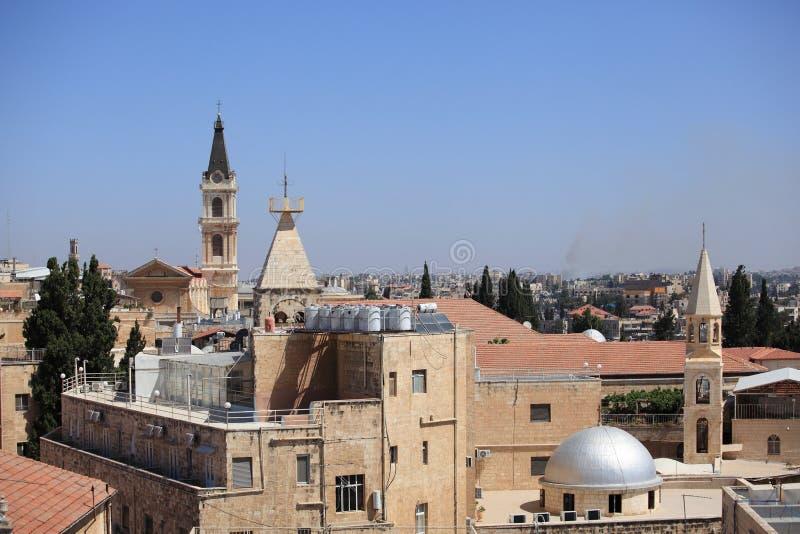 Alte Stadt von Jerusalem Christian Quarter View lizenzfreie stockbilder