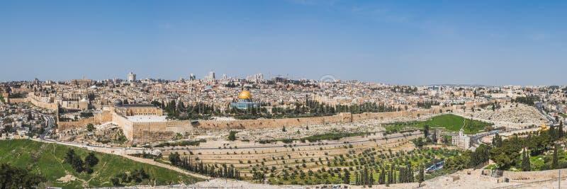 Alte Stadt von Jerusalem, Israel Panorama stockfotos