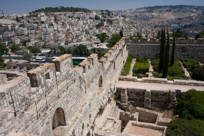 Alte Stadt von Jeruslaem, Tempel-Montierung stockfotos