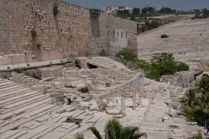 Alte Stadt von Jeruslaem, Tempel-Montierung stockbilder