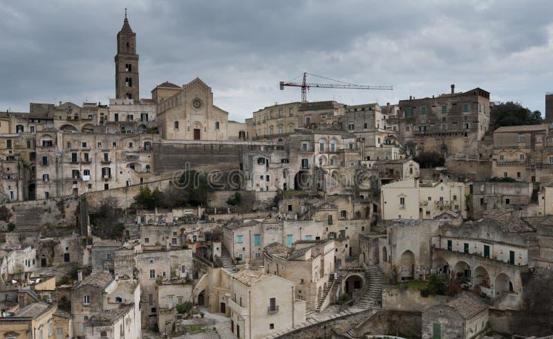 Alte Stadt von Matera Sassi di Matera, Basilikata, Italien stockbild