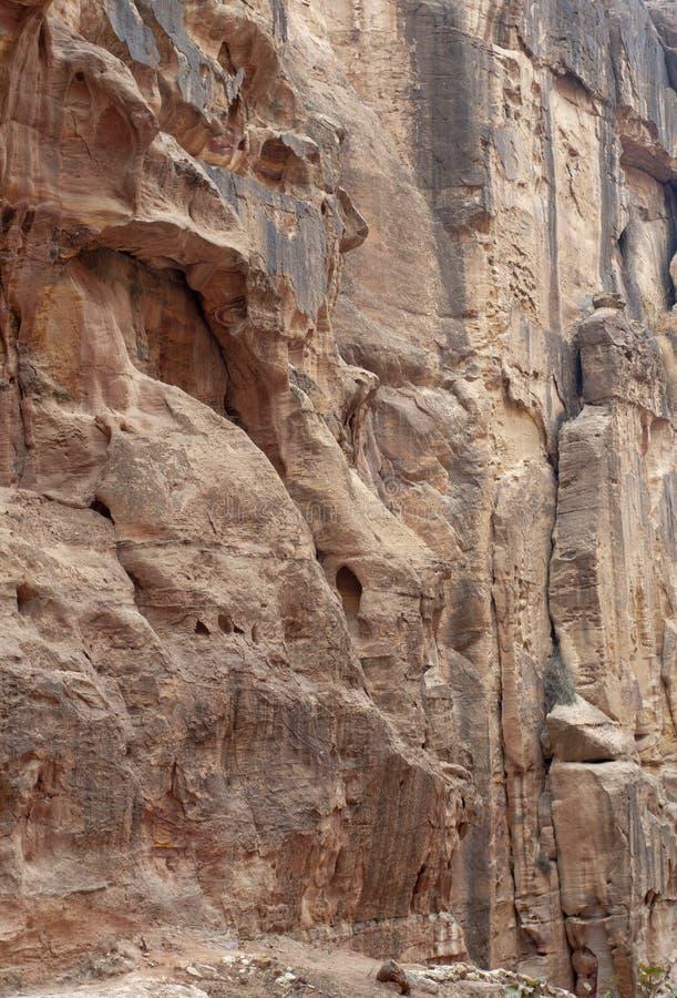 Alte Stadt von PETRA, Jordanien stockfoto