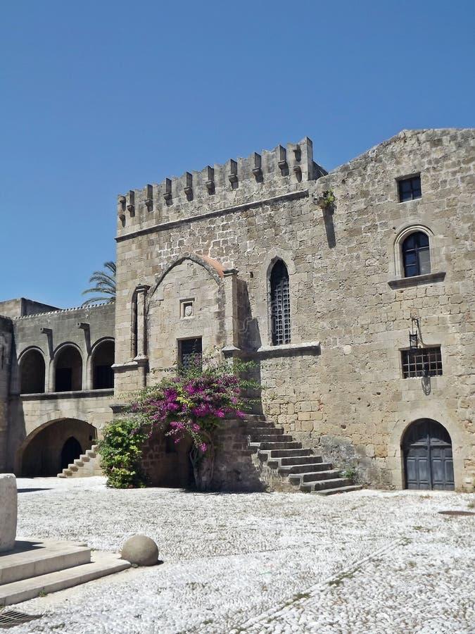 Alte Stadt von Rhodos, Griechenland lizenzfreie stockfotos