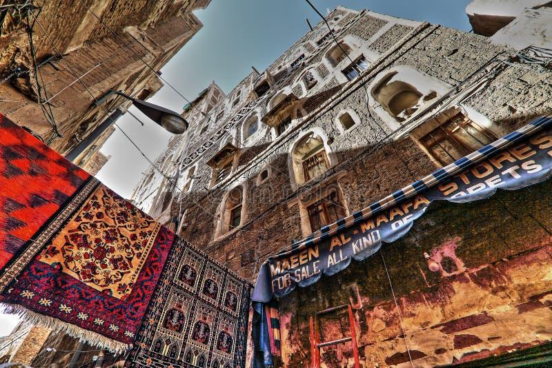Alte Stadt von Sana'a in HDR lizenzfreie stockfotografie