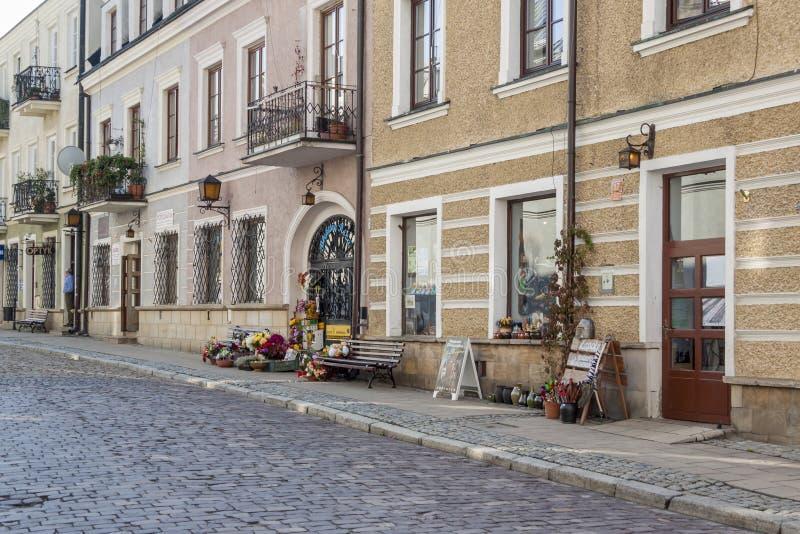 Alte Stadt von Sandomierz lizenzfreies stockbild