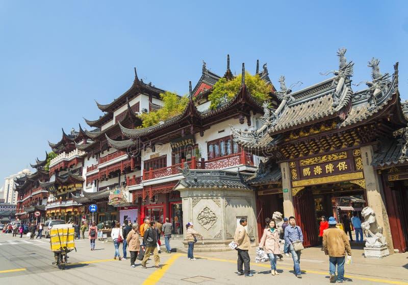 Alte Stadt von Shanghai-Porzellan lizenzfreies stockbild