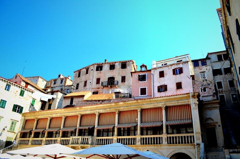 Alte Stadt von Sibenik stockfotografie