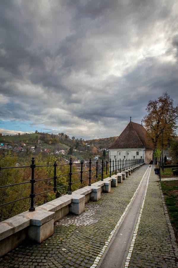 Alte Stadt von Sighisoara, Siebenbürgen, Rumänien stockfotos