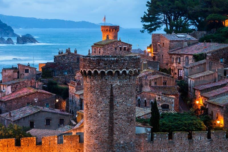 Alte Stadt von Tossa de Mar stockfotografie