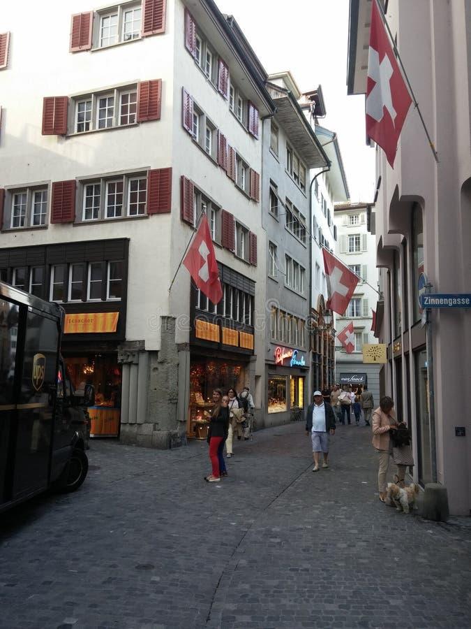 Alte Stadt Zürich lizenzfreie stockfotos