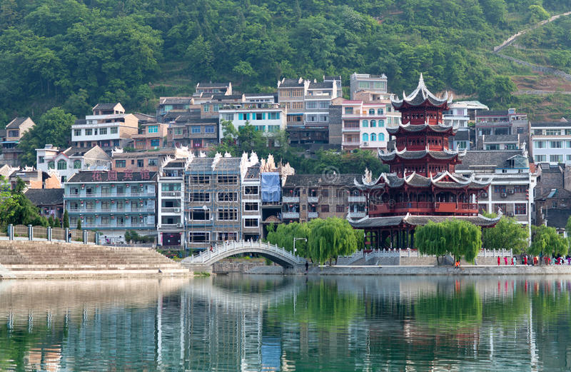Alte Stadt Zhenyuan in Guizhou-Provinz, China stockfotos
