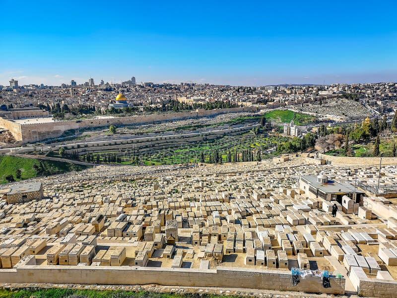 Alte Stadtansicht Jeruslaem lizenzfreie stockbilder