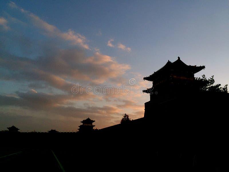 Alte Stadtmauer Datongs, Shanxi, China stockfotos