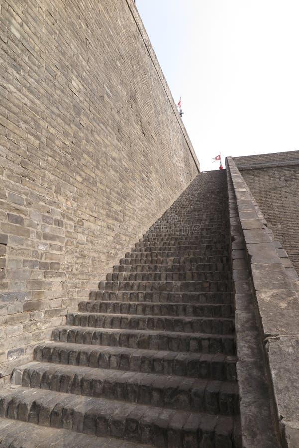 Alte Stadtmauer in Xian lizenzfreie stockbilder