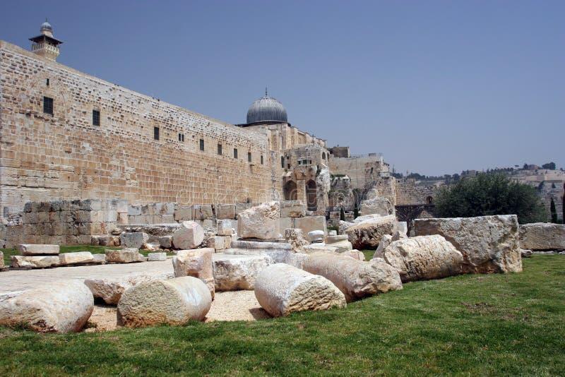 Alte Stadtmauern Jerisalem stockbild