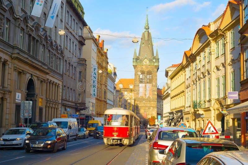 Alte Stadtstraße Prags, Tscheche stockfotografie