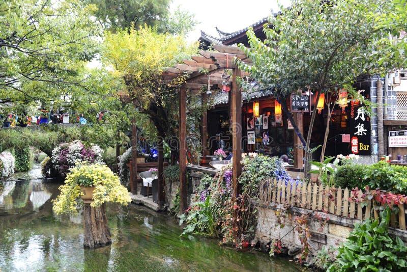 Alte Stadtstraße Lijiang lizenzfreies stockbild