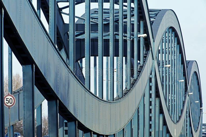 Alte Stahlbrücke, Hamburg lizenzfreies stockbild