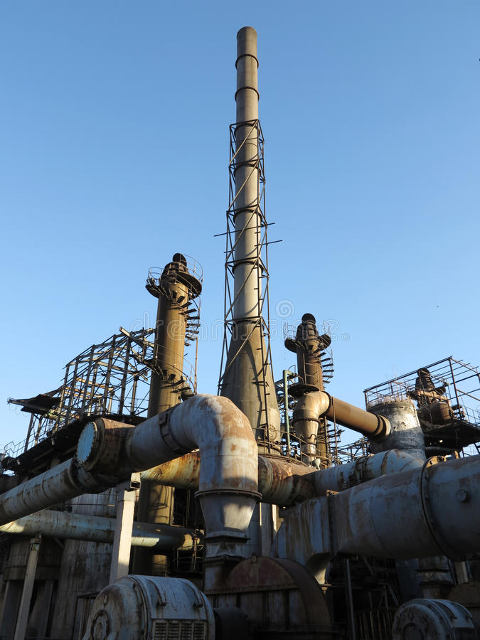 Alte Stahlfabrik lizenzfreie stockbilder