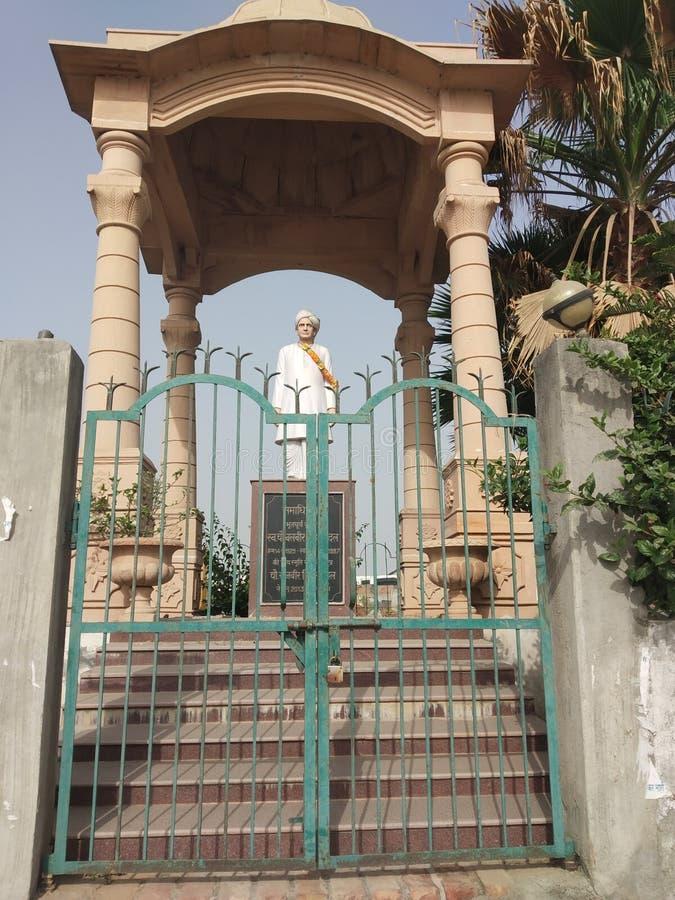 Alte Statue in Haryana Indien stockbild