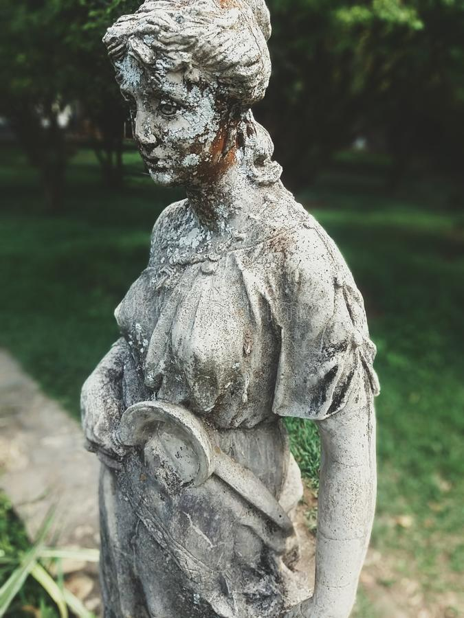 Alte Statue, vom alten Kolonial-Brasilien stockfoto