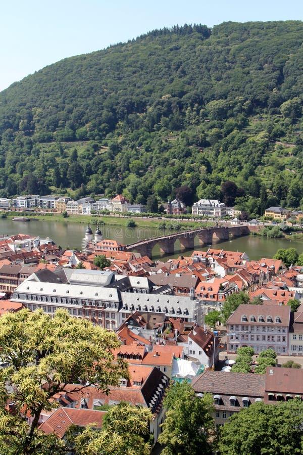 Alte Steinbrücke in Heidelberg, Deutschland stockbilder