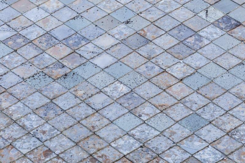 Alte Steindachplatten stockbild