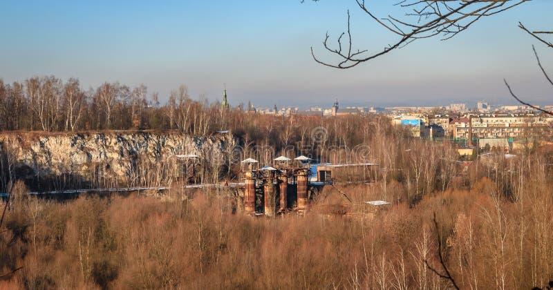 Alte Steingrube auf Bonarka in Krakau lizenzfreie stockfotografie