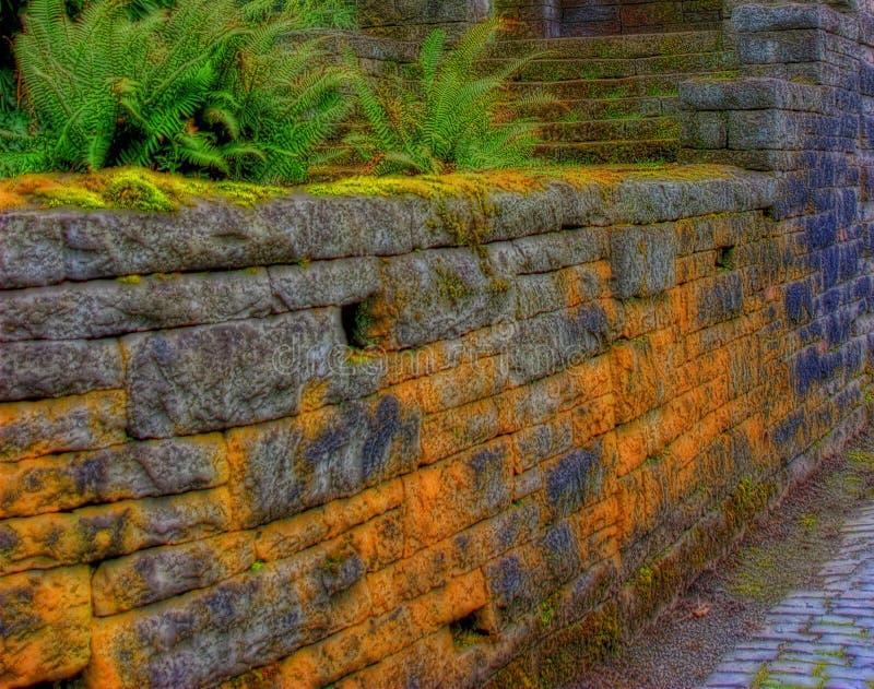 Alte Steinwand stockfoto