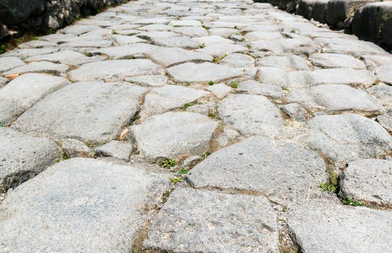 Alte Straße in Pompeji stockfotos