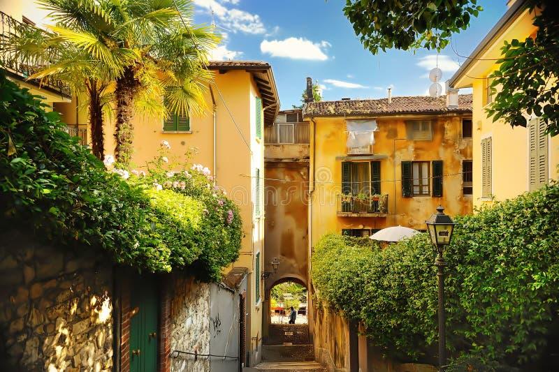 Alte Straße in Trastevere in Rom, Italien stockfoto