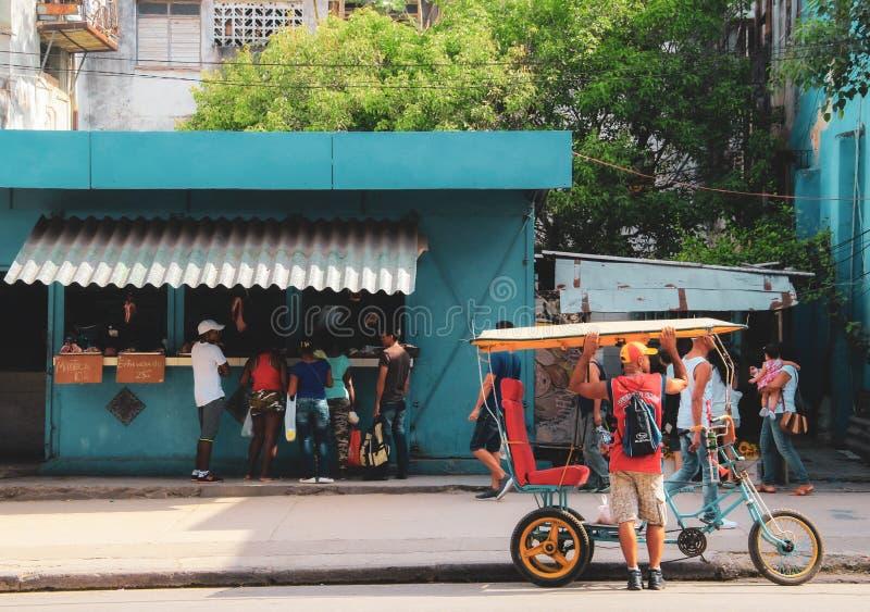 Alte Straße von Havana in Kuba, Caribbeans stockfoto