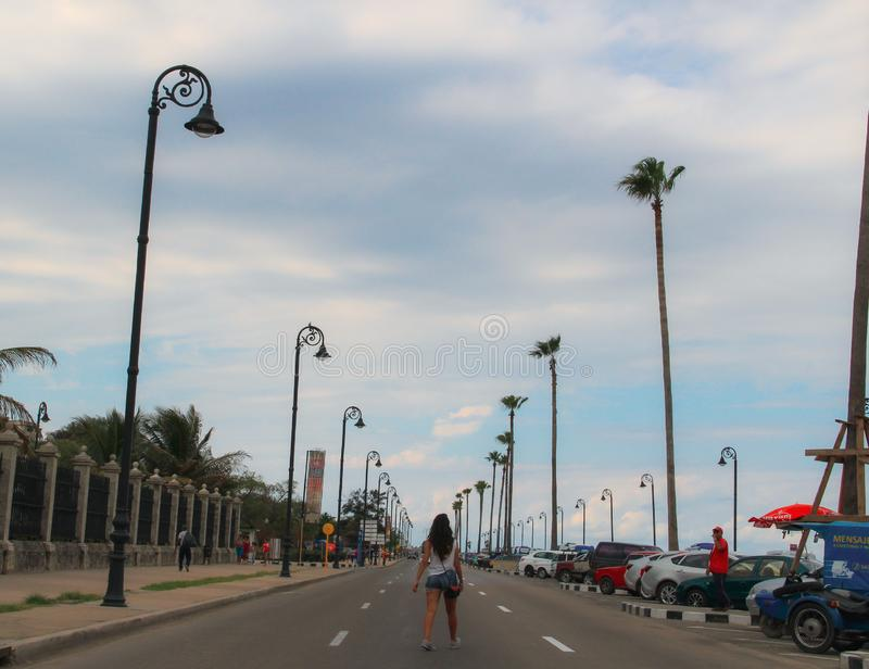 Alte Straße von Havana in Kuba, Caribbeans lizenzfreie stockfotografie