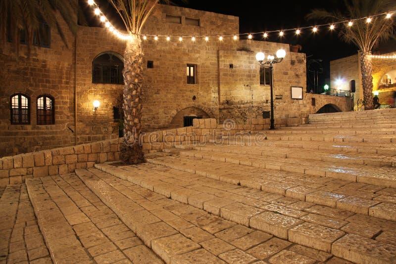Alte Straße von Jaffa, Tel Aviv, Israel lizenzfreies stockfoto