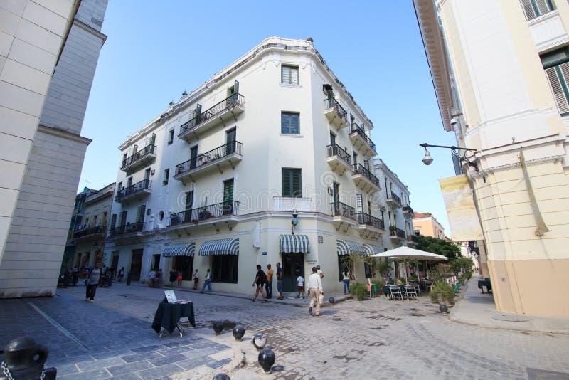 Alte Straßen von Havana. stockbild
