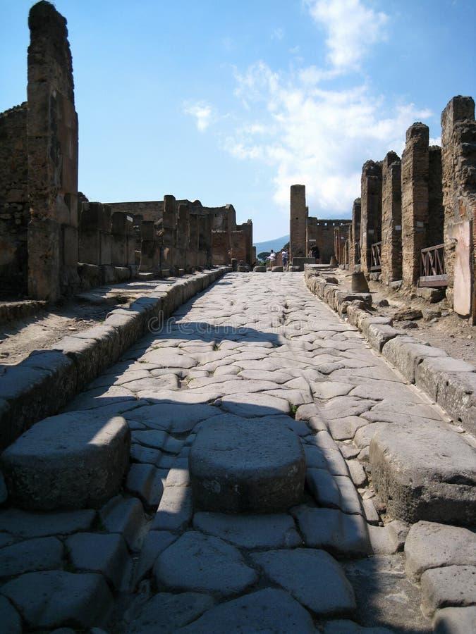 Alte Straßen von Pompeji lizenzfreie stockfotos