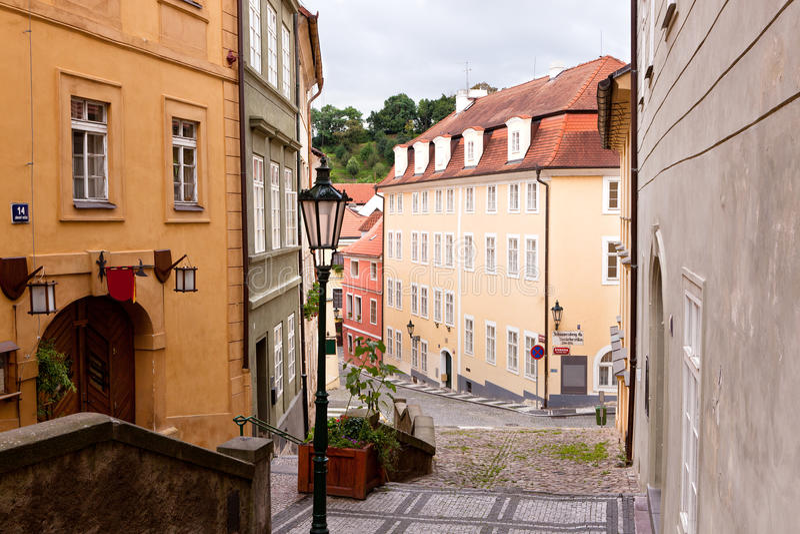 Alte Straßen von Prag stockfotos