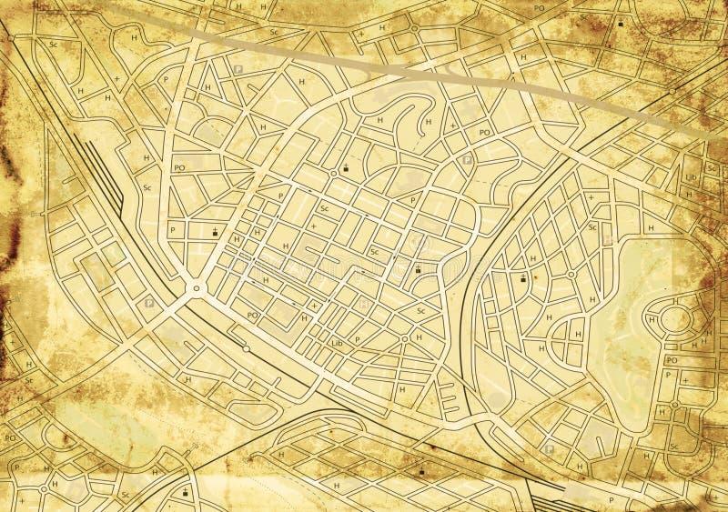 Alte Straßenkarte lizenzfreies stockbild