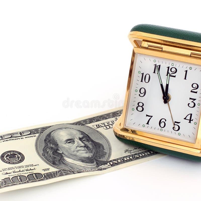 Alte Straßenuhr Retro- Borduhr Zeit ist Geld lizenzfreie stockfotografie
