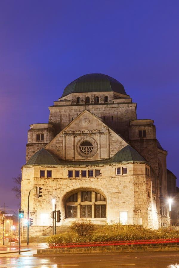 Alte Synagoge in Essen stockbild