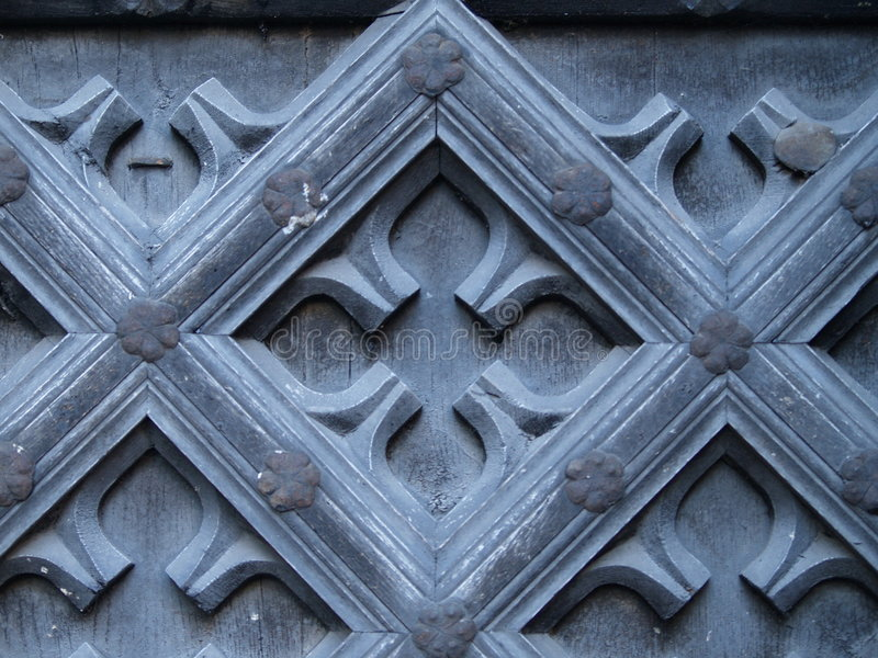 Alte Tür-Auslegung stockfotos