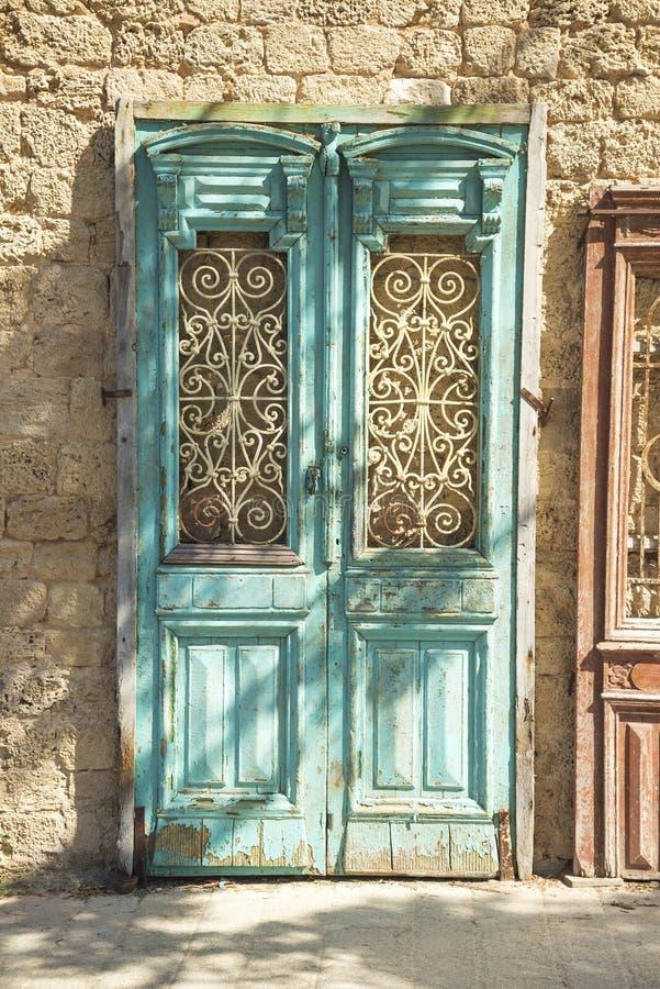 Alte Tür im jersusalem Israel lizenzfreie stockfotografie