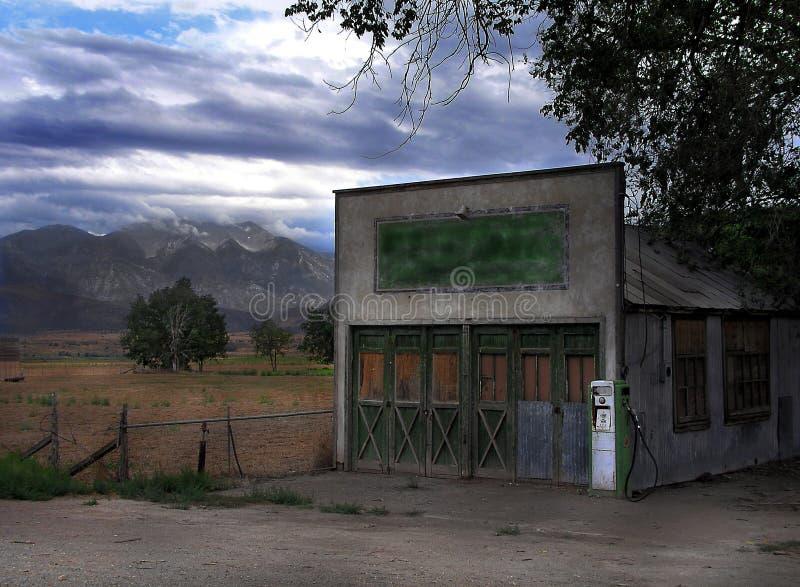 alte Tankstelle stockfoto