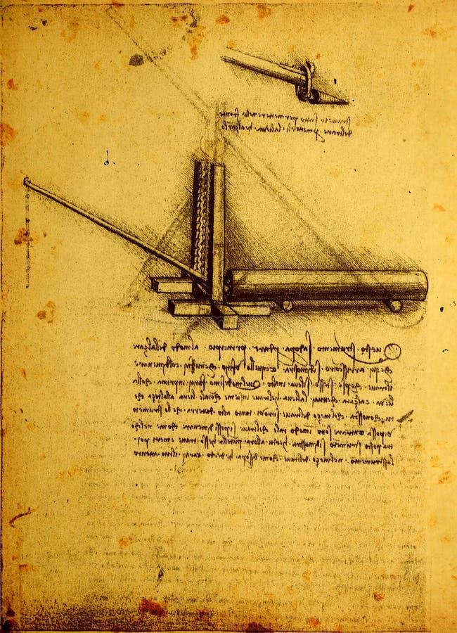 Alte technische Konstruktionszeichnung vektor abbildung