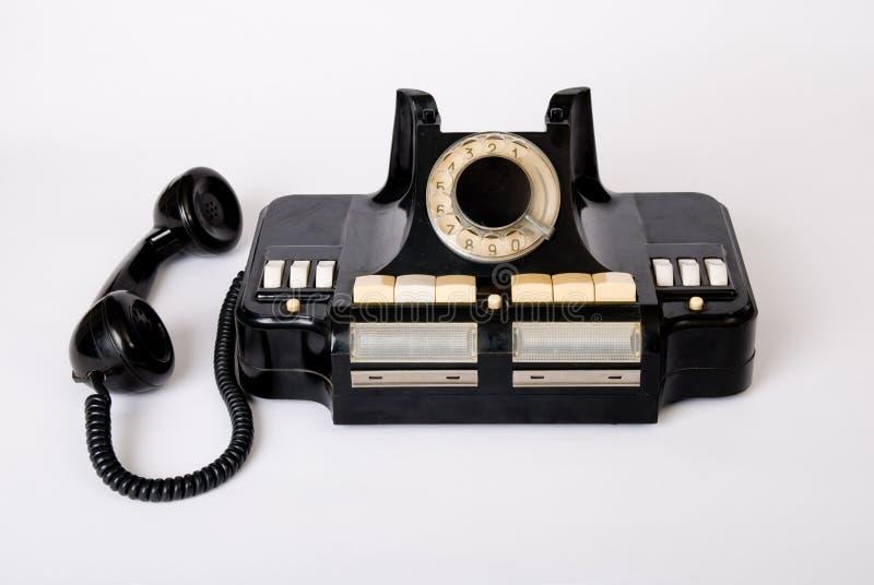 Alte Technologie des alten Telefons lizenzfreies stockbild