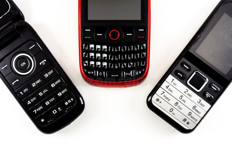 Alte Telefone lizenzfreies stockfoto
