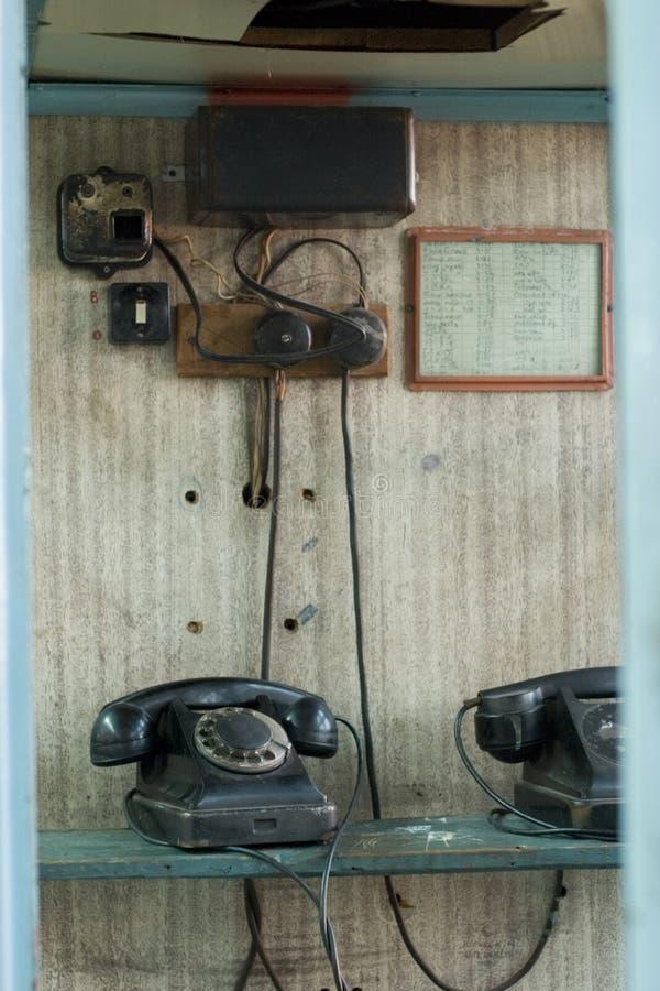 Alte Telefone stockfoto