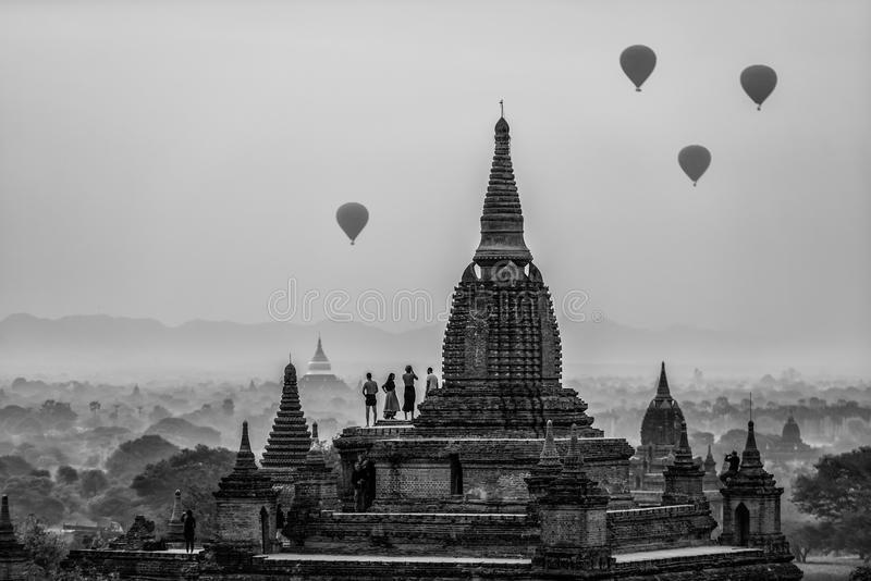 Alte Tempel in Bagan stockbild