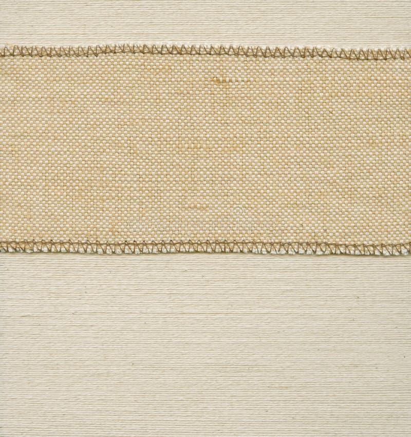 Alte Textilmarke lizenzfreies stockfoto